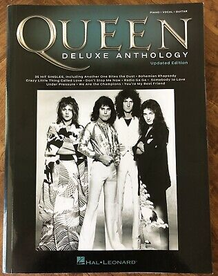 Queen Deluxe Anthology Piano/Vocal/Guitar Songbook EMI - Hal Leonard, Excellent