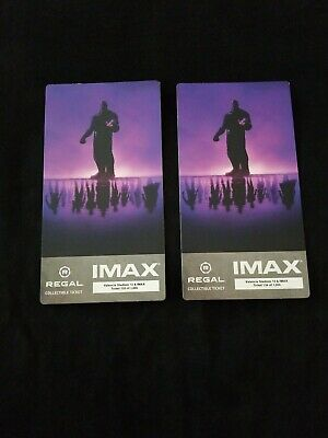 2 Avengers Endgame Week 1 IMAX Regal Collectible Tickets, Movie Theater only