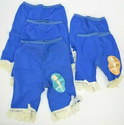 Vtg 1970's Lot of 5 Miss Sylcraft Girl's Petti-Panty Petticoats Blue
