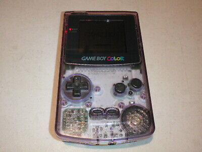 Nintendo Game Boy Color Clear Atomic Purple CGB-001 Handheld Game System