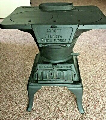 Antique Midget Cast Iron Stove /  Atlanta Stove Works