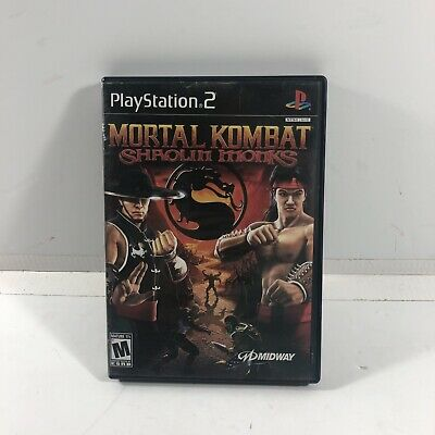 PS2 Mortal Kombat: Shaolin Monks (Sony PlayStation 2, 2005) Complete with Manual