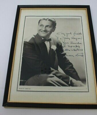 Lawrence Welk Champagne Orchestra Photo Signed Musician Head Shot 1944 Framed