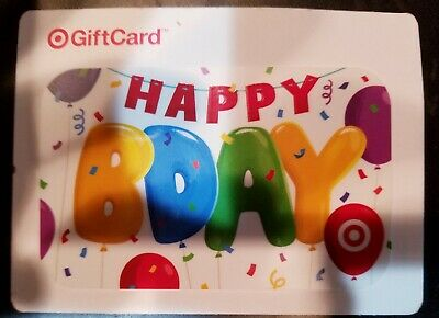 Target Birthday GIFT CARD. VALUE $25. IN STORE OR ONLINE