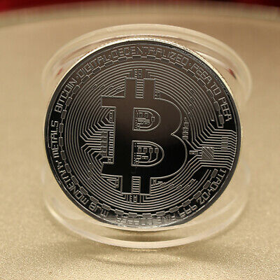 BTC Bitcoin Commemorative Round Collector Coin Bit Coin is Gold Plated Coins