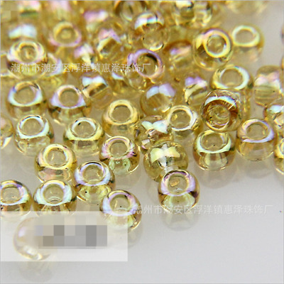 Preciosa Czech Glass Seed Beads Rocailles 10gr (2.2-2.4mm) Canary yellow AB