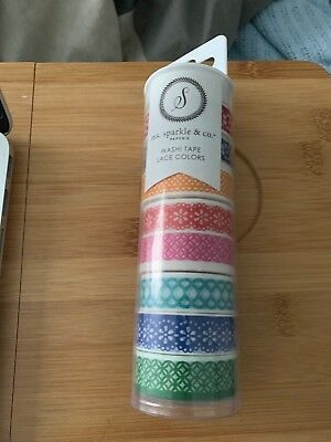 Ms Sparkle & Co Lace Washi Tape 8 rolls rainbow colors Joanns
