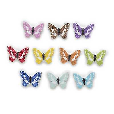 50pcs Butterfly Wood Buttons for Sewing Scrapbooking Home Cloth Making Decor DIY