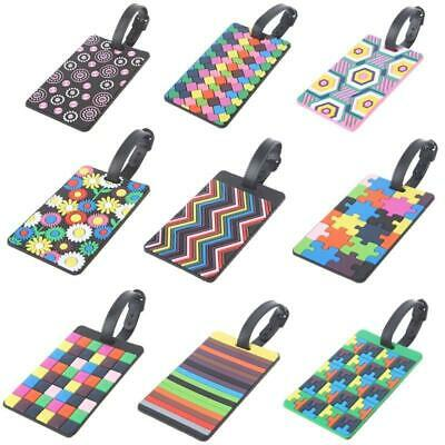 Travel Luggage Tags Labels Strap Name Address Id Suitcase Bag Baggage Secure