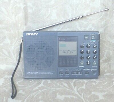 Sony Icf-Sw7600 Stereo Synthesized World Band Shortwave Radio Receiver Japan
