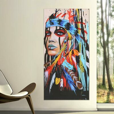 Abstract Indian Woman Canvas Oil Painting Print Picture Home Wall Art Decor CA