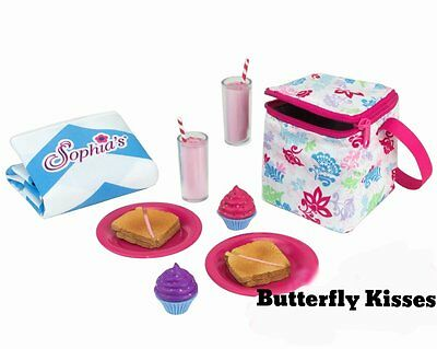 "Picnic School Lunch 12 PC  +Thermal Cooler 18"" Doll Food For American Girl Dolls"