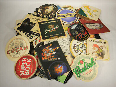 L012472 BEER COASTER / Lot Of x 84 / All Used With Faults / Worldwide Coasters