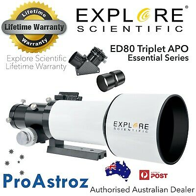 Explore Scientific ED80mm F/6 APO triplet refractor telescope astronomy