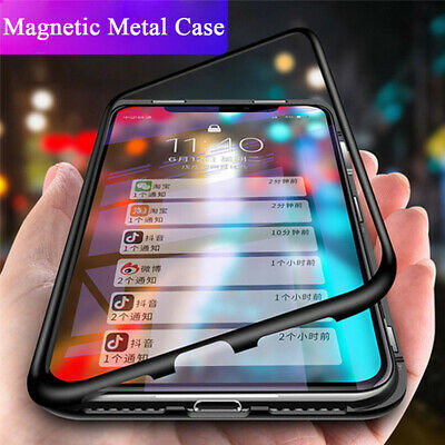 For Samsung S10E S9 S8 Plus Magnetic Absorption Protect Tempered Glass Case Skin
