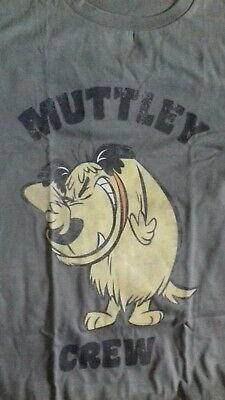New Grey Muttley Crew Wacky Races T Shirt Hard To Find In Xl