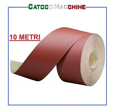 ROTOLO CARTA ABRASIVA 10 MT H 90 mm SUPPORTO VELCRO GRANE ASSORTITE