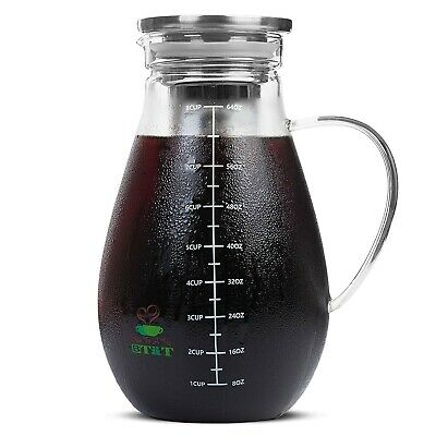 Cold Brew Tea Maker 2 Qt Iced Coffee Pitcher With Airtight Lid Infuser Filter