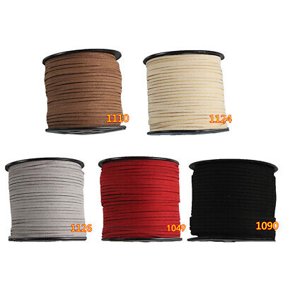 3mm Faux Suede Cord Leather Jewelry Making/Beading/Thread Flat DIY Lace 90 Meter