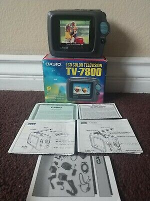 "Brand New VTG Casio TV-7000 Handheld 3"" Small Portable Television TV NOS Japan"