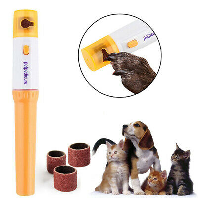 Electric Nail Grinder Trimmer Care Clipper Painless Pedicure Kit For Pet Dog Cat
