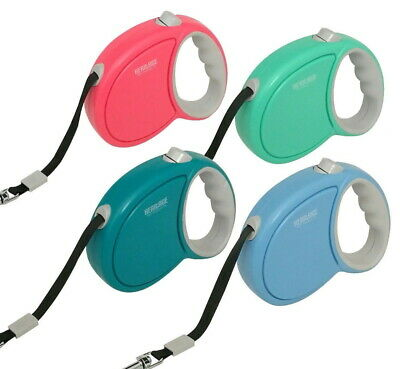 Heritage 5M Retractable Tape Dog Lead Extendable Leash Pet Cord Training Dogs