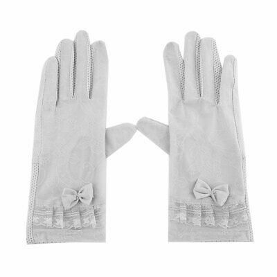 Travel Outdoor Camping Polyester Bowknot Full Finger Sun Resistant Gloves Pair