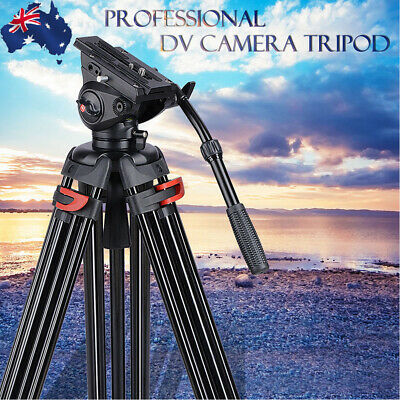 "71"" Professional DV Video Camera Adjustable Tripod Stand Fluid Pan Head Aluminum"