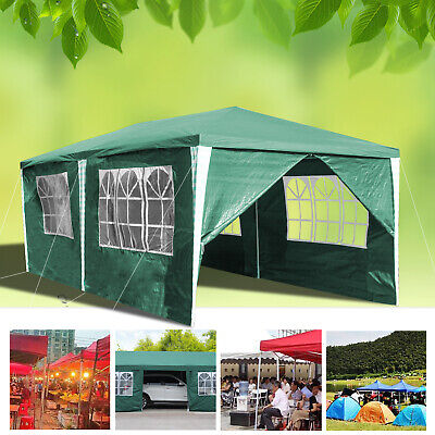 3x6m Pop-up Gazebo Marquee Canopy With Bag Cover Waterproof Outdoor