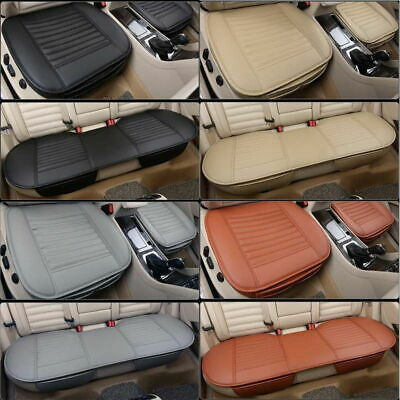 Universal Car Front Seat Chair Cushion PU Leather Pad Cover Black Protector Mat