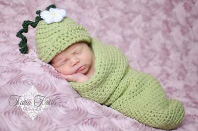Sweet Pea Beanie & Cocoon - baby sleep sack baby hat  newborn photo prop