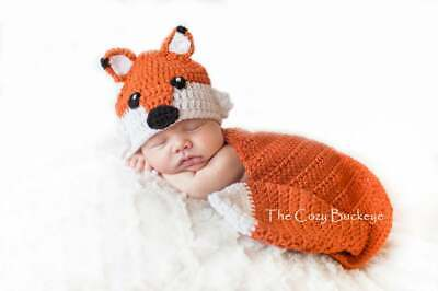 Fox Hat and Cape Set - Newborn Prop - Animal Character