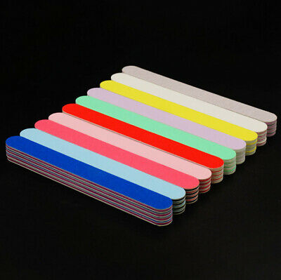 10 pcs Beauty Pedicure double-sided random color Sanding Korea Nail File