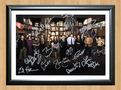 The Office US TV Series Cast Signed Autographed A4 Photo Poster Memorabilia dvd