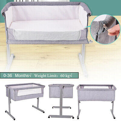 Mattress + Bed Net Foldable Travel Baby Crib Portacot Infant Bassinet Sleep Bed