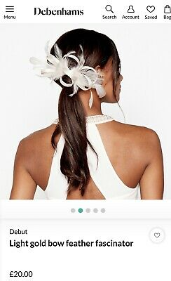 585e242604a1 Fascinator by Debut Debenhams -Neutral / Ivory feather & Loop On Clip