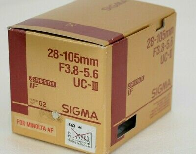 SIGMA 28-105mm F3.8-5.6 UC III aspherical - for Sony Alpha / Minolta AF