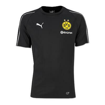 Puma Bvb Borussia Dortmund Training Top with Sponsor Logo Puma Black