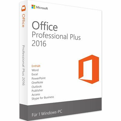 MS Office Microsoft Office 2016 Professional Plus Key Vollversion 32/64 Bit