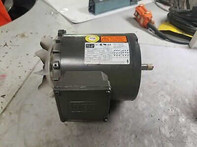 New Weg 1/2 Hp Electric Ac Motor 208-230/460 Vac 3 Phase B56C Frame 3470 Rpm