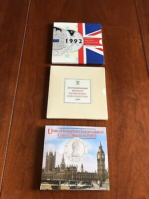 1992-1986-1982 United Kingdom Brilliant Uncirculated Coin Collection
