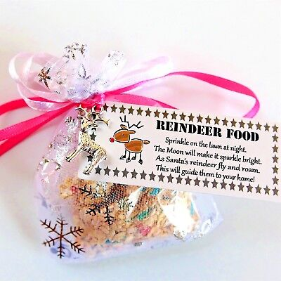 MAGIC MAGICAL REINDEER FOOD Christmas Eve Kids Activity Tradition Dust *PINK*
