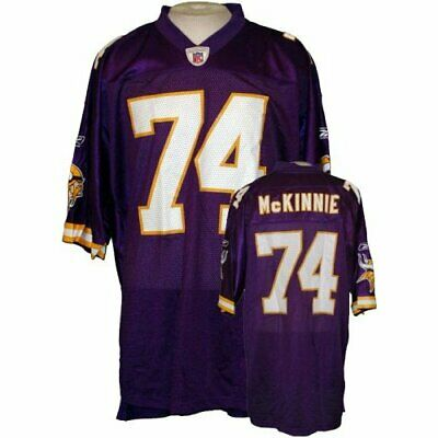 new concept 26b96 d2d86 REEBOK MINNESOTA VIKINGS Mens NFL Football Replica Jersey Bryant McKinnie  #74