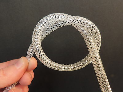 "1 Yard 5/16"" SILVER, Mylar / Mesh Tubing Tube for Fly Tying, Minnow Bodies"