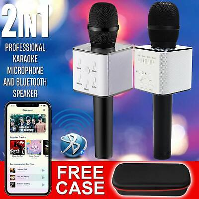 Karaoke Q7 Wireless Bluetooth Microphone Speaker Handheld USB Mic Player KTV UK