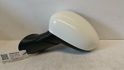 2009 Fiat 500 Passenger Door Mirror Electric & Heated - White Cover