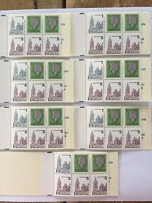 Canada 1979 Parliament 7 Booklet #BK80 Variety With Damaged 5c stamp MNH