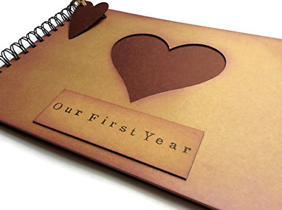 Our First Year Anniversary memory book, scrapbook, photo album, blank...