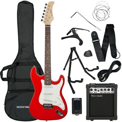 Rocket Full Size 4/4 Electric Guitar Starter Pack - Red - B-Stock