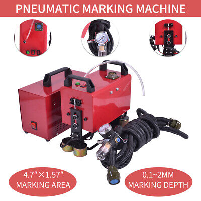 Portable handheld pneumatic dot peen marking machine for VIN Code Chassis Number